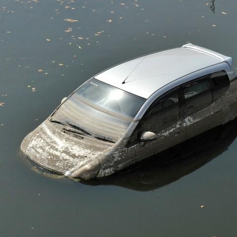 flood-damage car