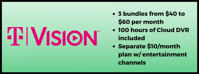 T-Mobile TVision Best Live TV Streaming Plans