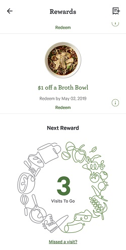 Track rewards from the Panera app