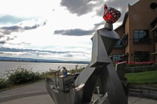 Vancouver waterfront sculpture 1