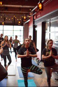 Yoga and Beer Vancouver yoga pose