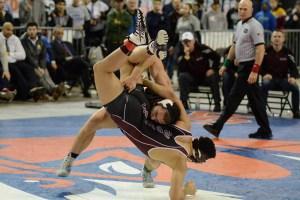 clark county state wrestling Union junior Danny Snediker