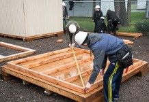 Evergreen Public School Students Habitat for Humanity students math