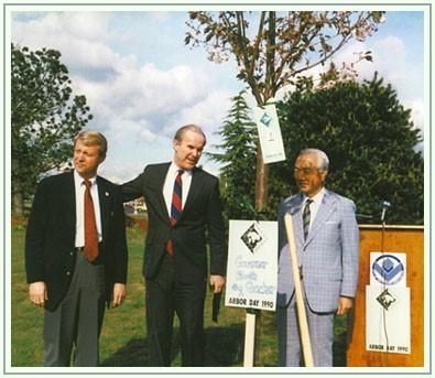 Clark College Sakura Festival Dedication 1990