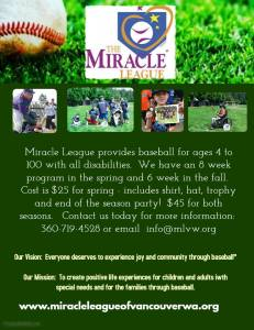 miracle league flyer