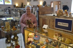 Two Rivers Heritage Museum Karen Johnson curator of Oh Teddy exhibit