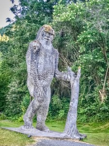 Places to Look for Sasquatch in Clark County Bigfoot Statue Toutle via Douglas Scott