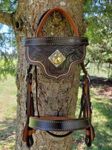Lisa badger custom western bridle washington