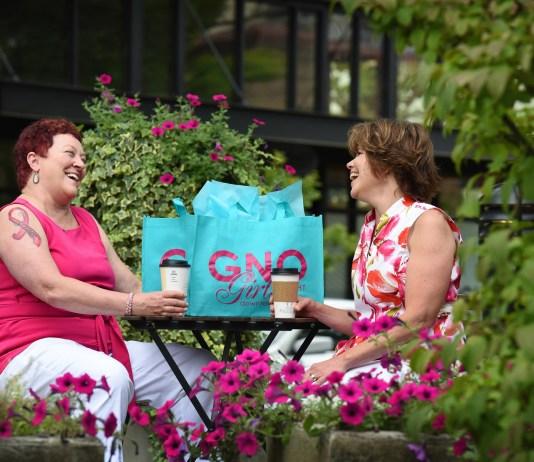 Camas Downtown Association Gilrs Night Out Jennifer Snapp-Hodapp, left and Susan Lehr