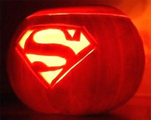 downtown camas association superman pumpkin