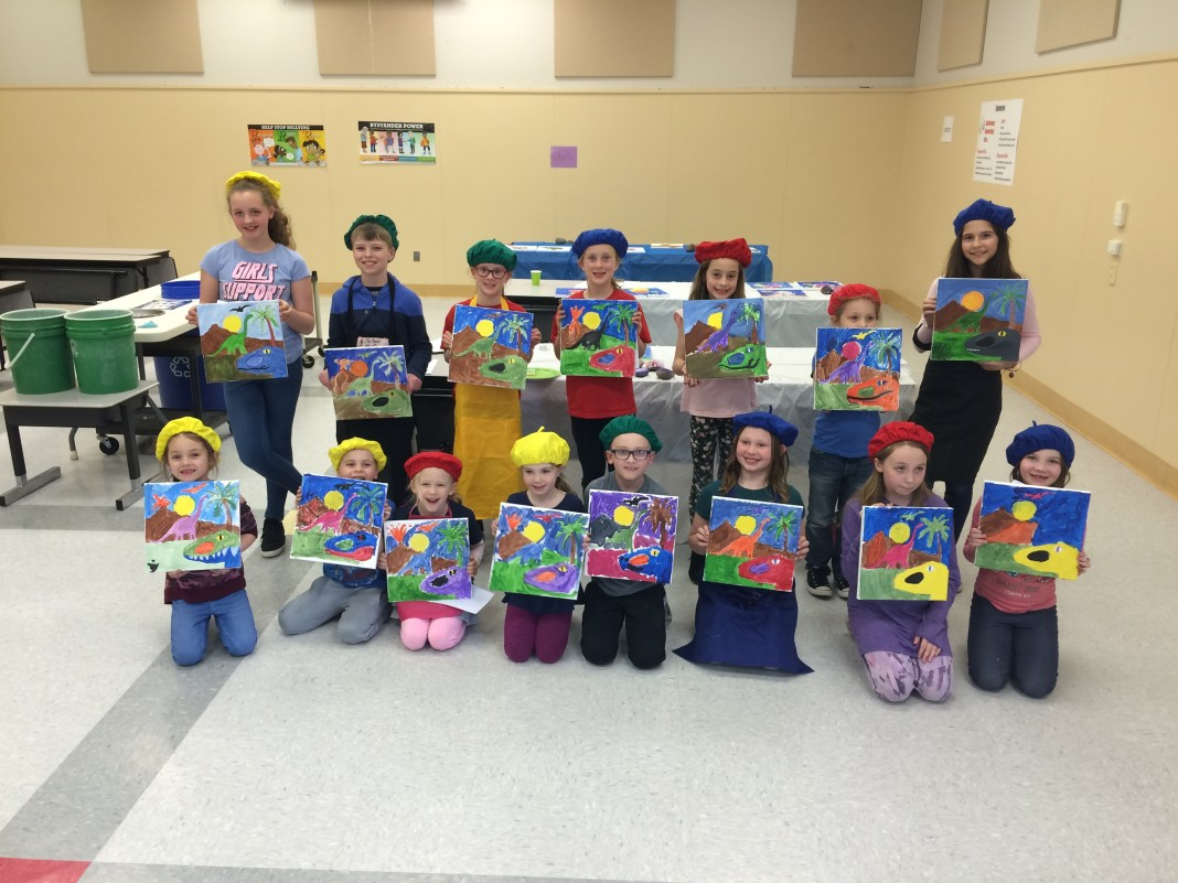 2019 Washougal Youth Arts Month - kids and canvas - The Paint Rollers