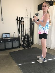 Washougal Middle School Gracie Perry 6th grade JMS with weights