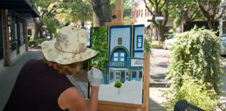 downtown camas Liz Pike plein air painting 2019