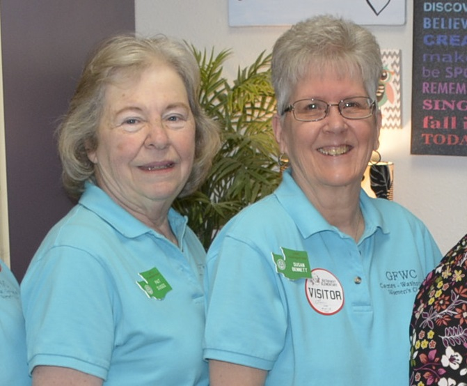 The General Federation of Women's Clubs Camas-Washougal, Pat Suggs, Susan Bennett