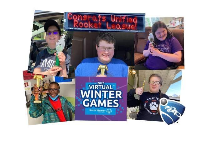 2021 Washougal Unified Rocket League Team collage