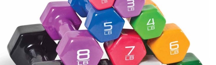 Fitness dumbbells from $.75 at Walmart