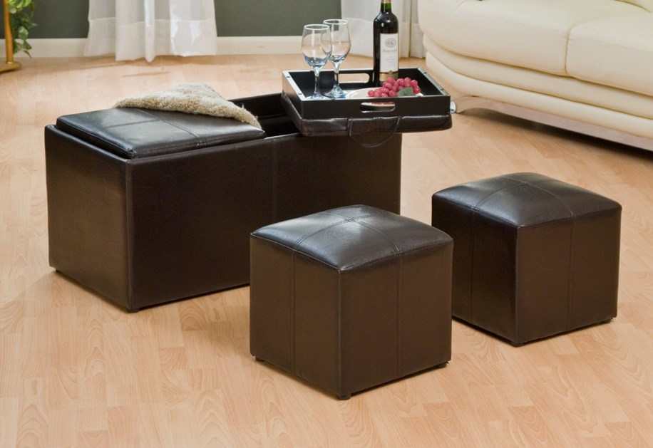 Save 70% On The Jameson Double Storage Ottoman With Tray Tables
