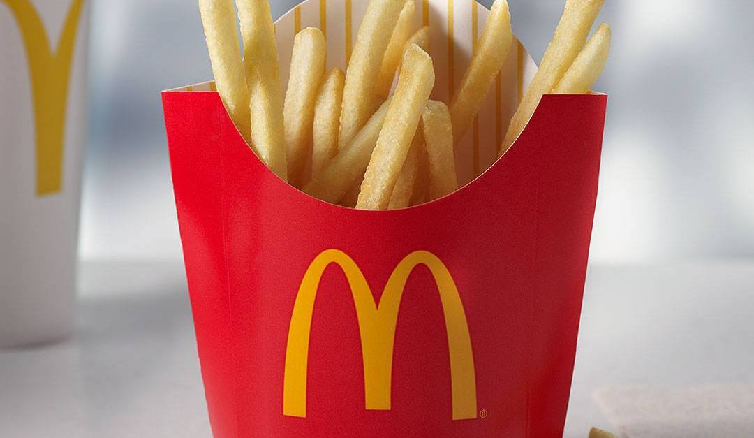Get a free medium fry with any $1 purchase at McDonald's today!