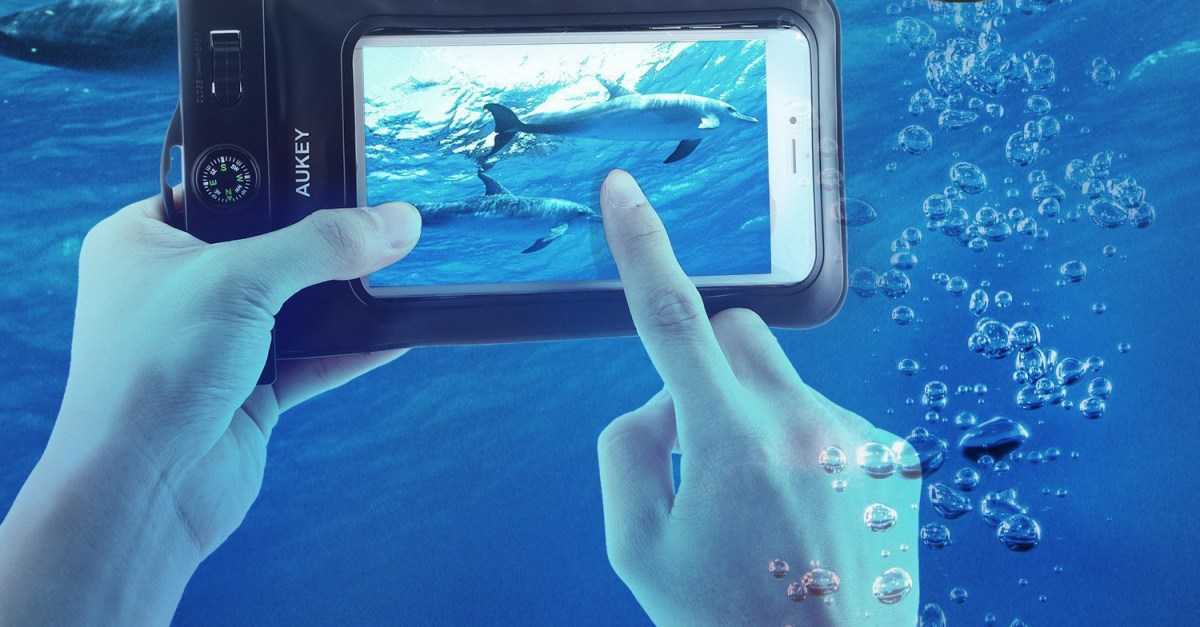 Aukey waterproof phone case with armband for $8