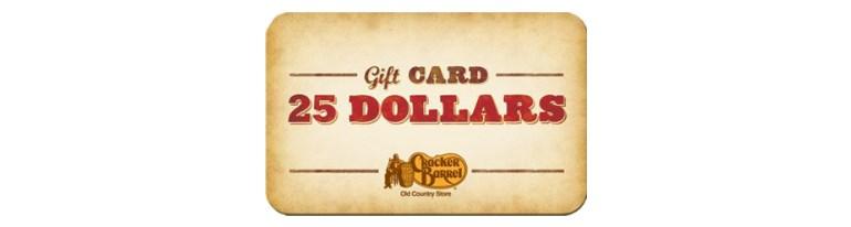 $25 Cracker Barrel eGift card for $15