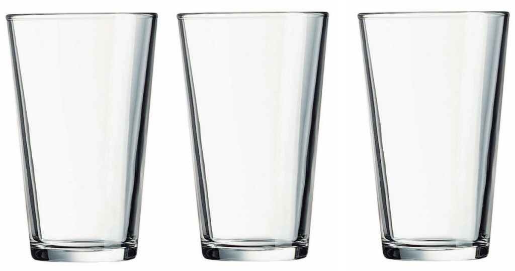 Today only: Set of 10 Luminarc 16oz beer glasses for $10