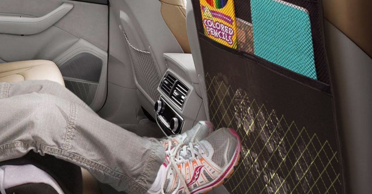 Best kick mats with backseat pocket storage for $10
