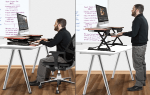 sitting and standing desk
