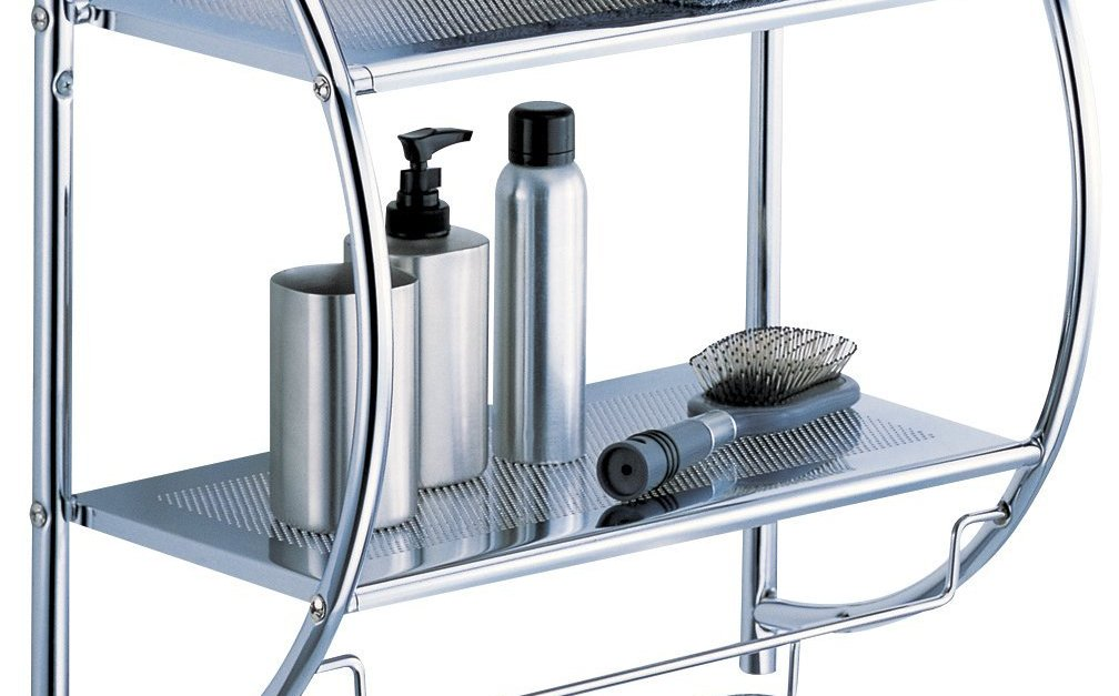 Organize It All 2 tier shelf with towel bars for $12