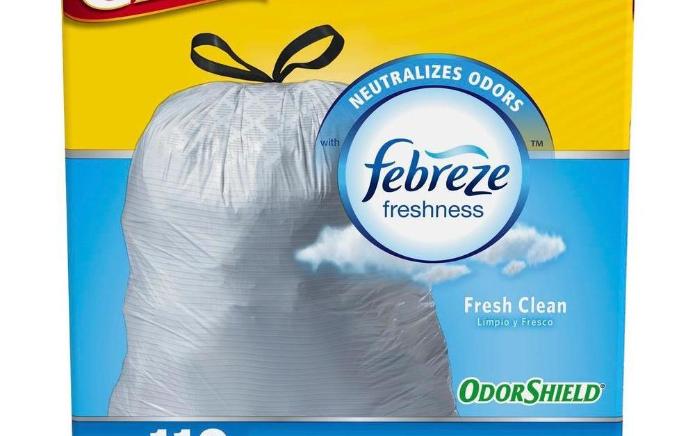 110 Glad OdorShield tall kitchen drawstring trash bags for $10