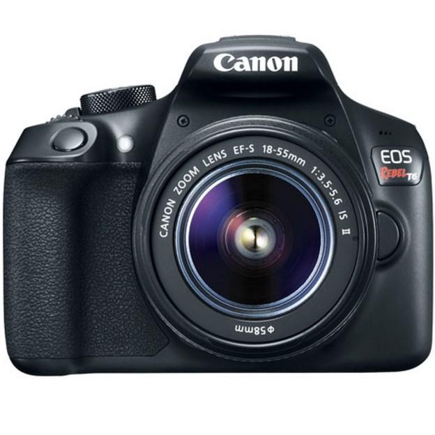 Refurbished Canon EOS T6 18MP DSLR camera bundle for $306