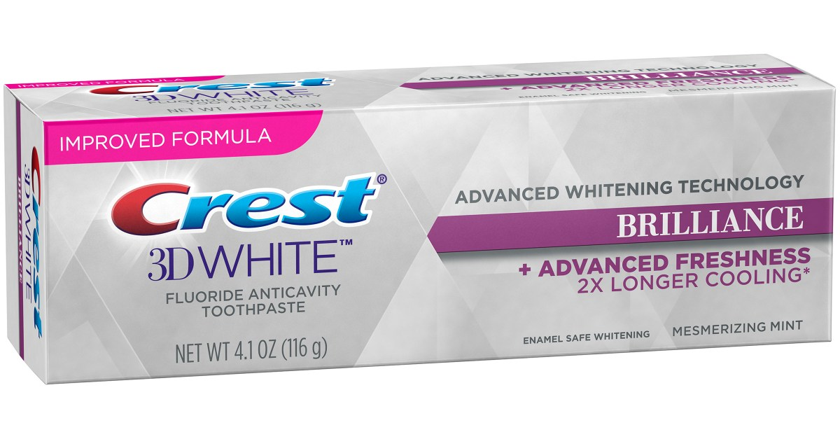 Crest 3D White Brilliance whitening toothpaste 2-pack for $5