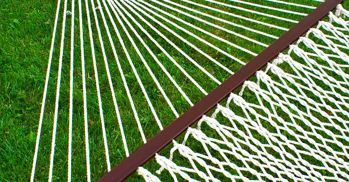 59″ cotton double wide outdoor yard hammock for $33 shipped