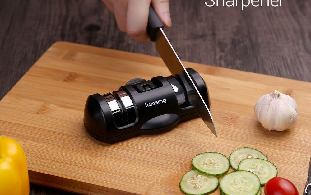 Lumsing 2 stage ceramic knife sharpener for $3.50