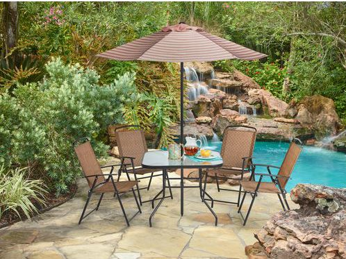 Lovely 6 Piece Mosaic Outdoor Dining Set For $100