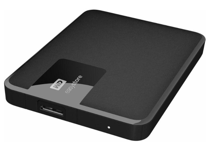4TB WD EasyStore USB 3.0 portable hard drive + 32GB USB flash drive for $90