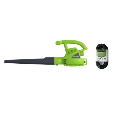 Greenworks 7.0 amp electric leaf blower for $27