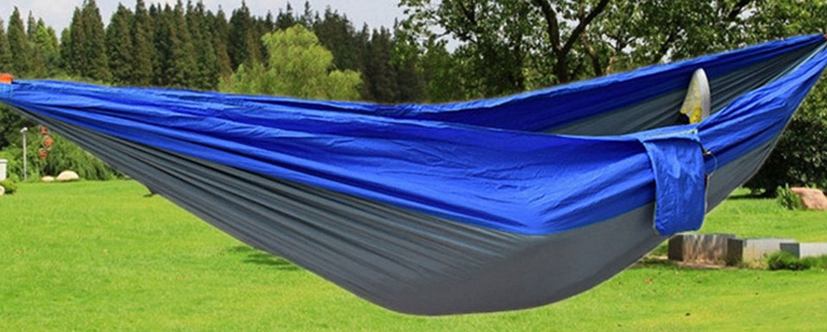 Parachute nylon fabric hammock for $13 shipped