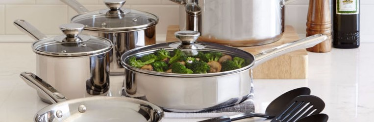 Cooks 12-piece stainless steel cookware set for $0 after rebate and additional item