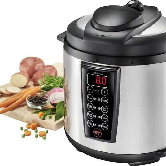 Insignia multi-function 6-quart pressure cooker for $30