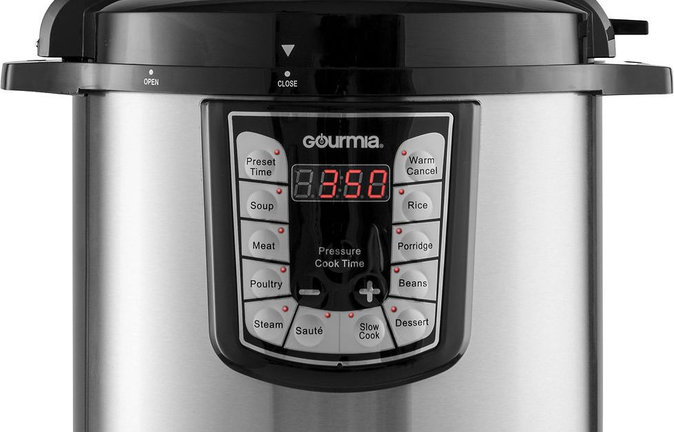 Gourmia 8-quart stainless steel electric pressure cooker for $50