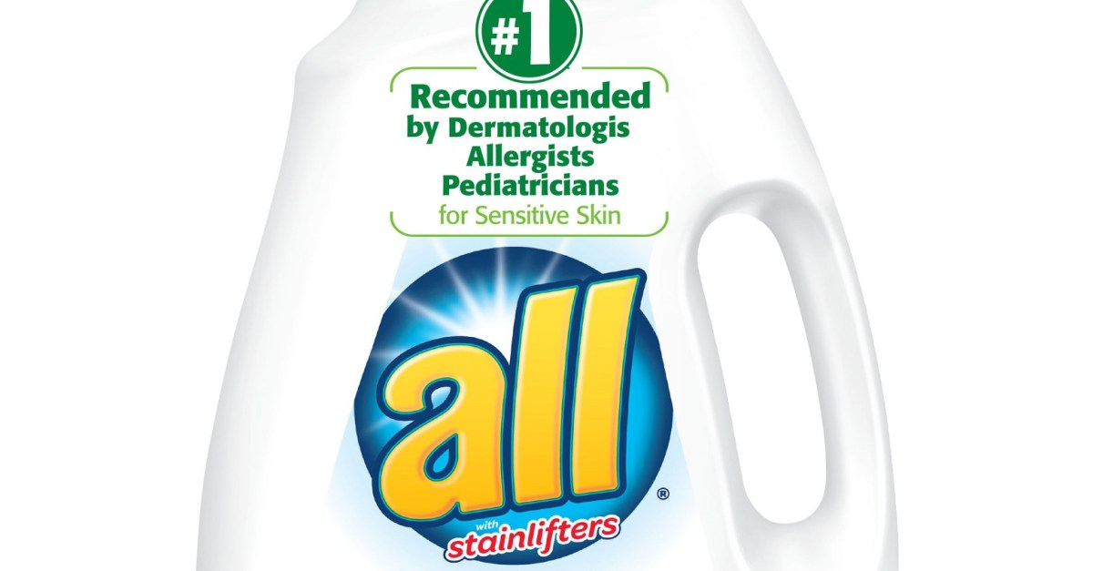 Expires soon! 2-count 94.5oz All Free Clear liquid laundry detergent for $14 + $5 GC