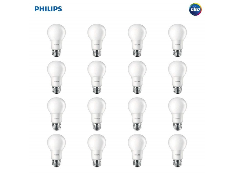 Today only: 16-pack Philips A19 non-dimmable LED light bulbs for $19