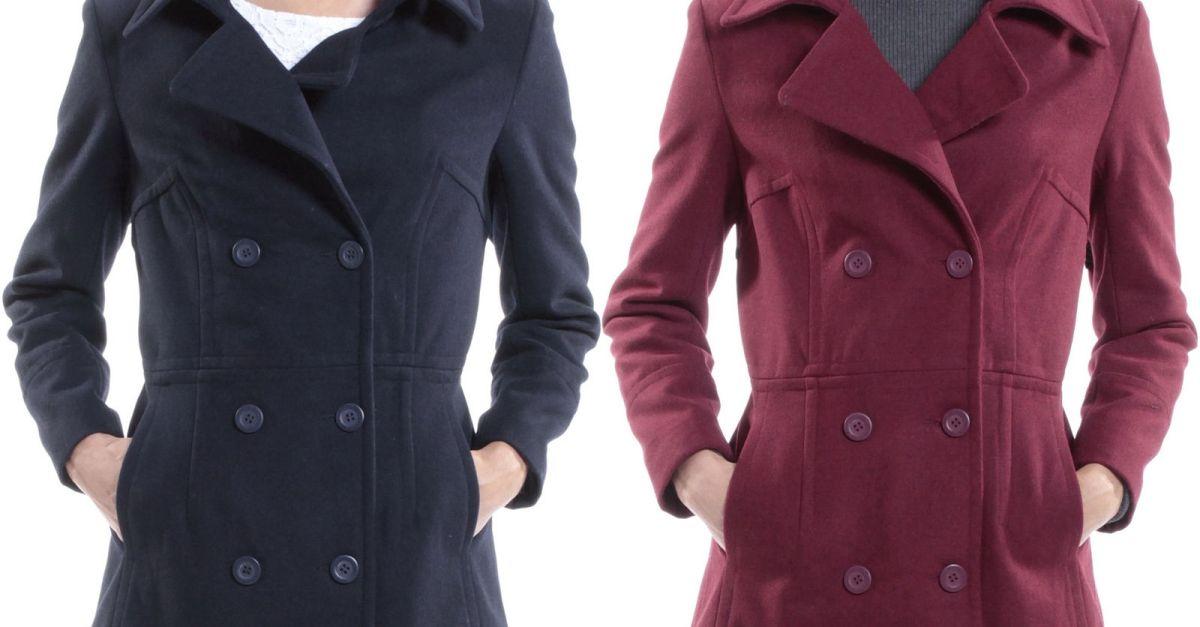 Alpine Swiss Emma women's peacoat jacket for $30 shipped