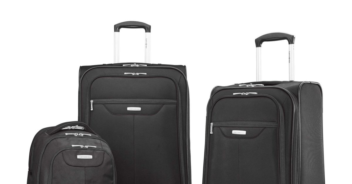 Samsonite Tenacity 3-piece luggage set for $100, free shipping