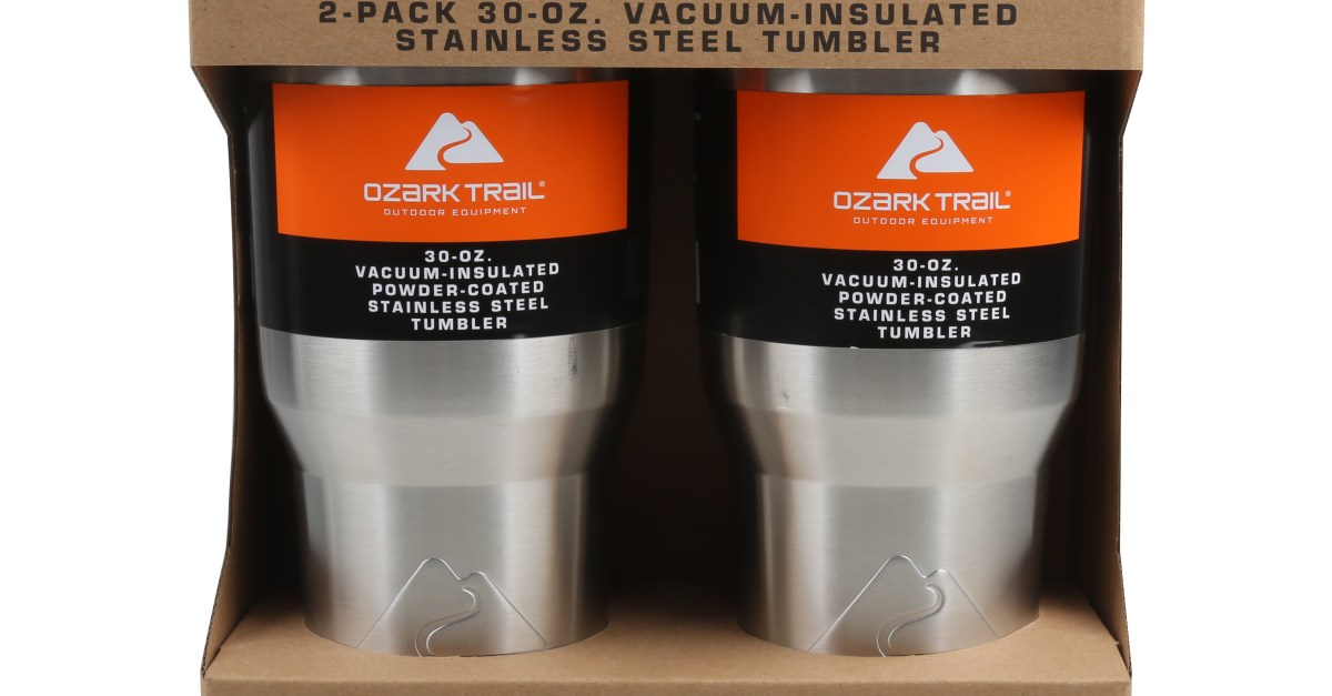 Price drop! 2-pack of Ozark Trail 30oz tumblers for $8