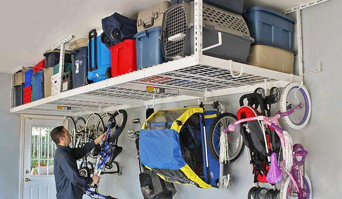 2-rack SafeRacks overhead garage storage combo kit for $250