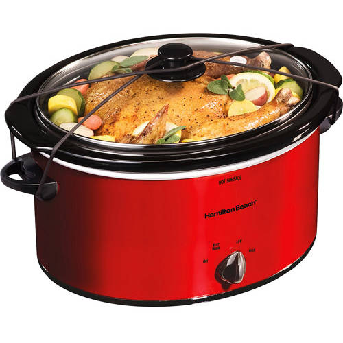 Hamilton Beach 5-quart portable slow cooker for $14