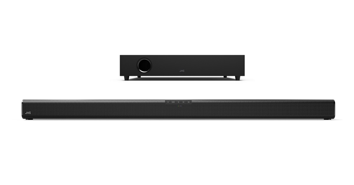 JVC 37″ 2.1 Bluetooth sound bar with wireless subwoofer for $80