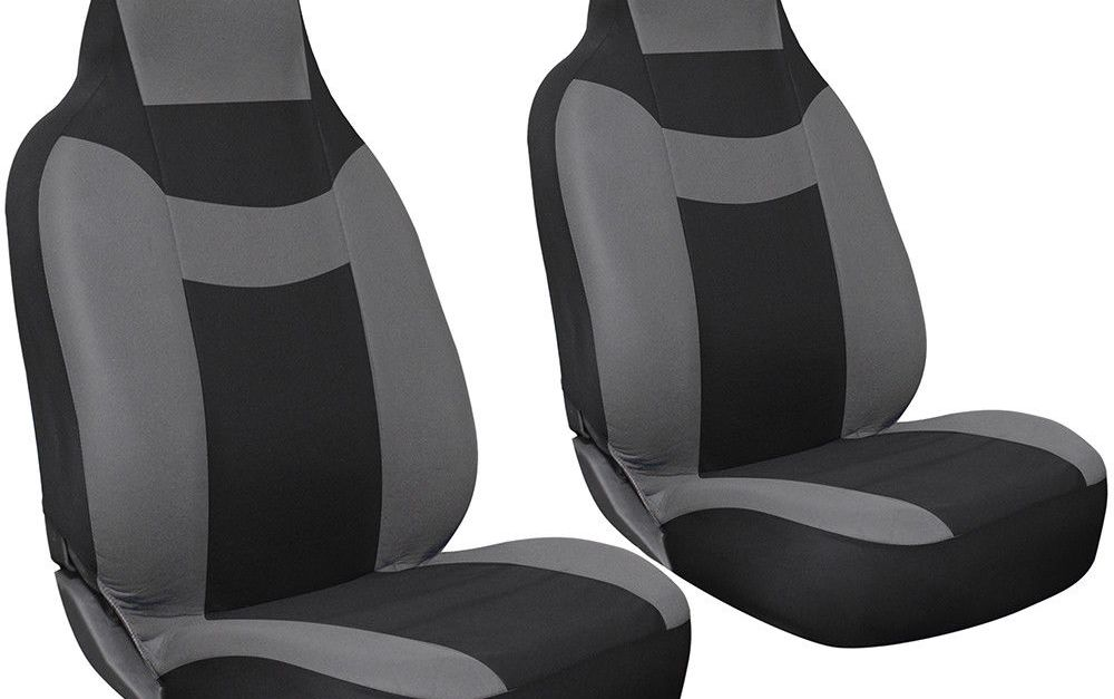 2-piece Oxgord faux leather bucket seat cover set for $10, free shipping