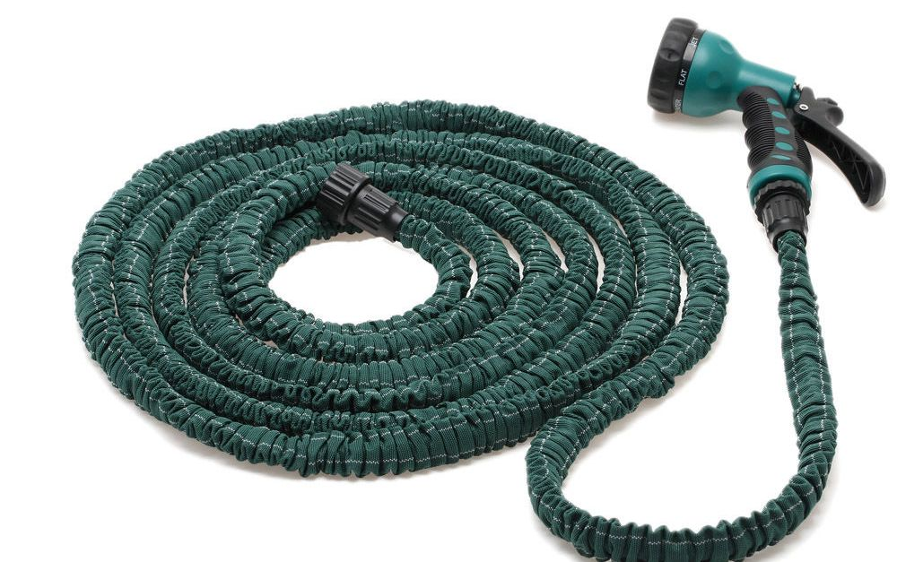Deluxe expandable flexible garden water hose + spray nozzle from $8, free shipping